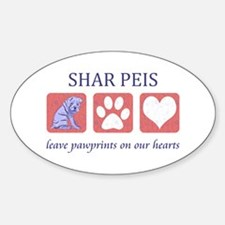 Shar-Pei Lover Gifts Sticker (Oval)