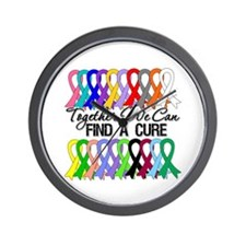 Together We Can Find A Cure Wall Clock