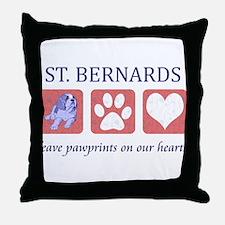 Saint Bernard Lover Throw Pillow