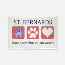 Saint Bernard Lover Rectangle Magnet
