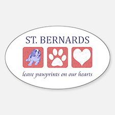 Saint Bernard Lover Sticker (Oval)