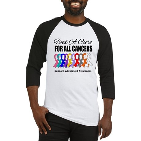 Find A Cure For All Cancers Baseball Jersey