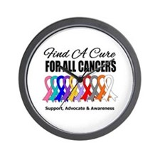 Find A Cure For All Cancers Wall Clock