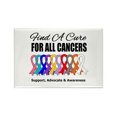 Find A Cure For All Cancers Rectangle Magnet (100