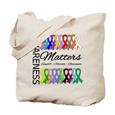 Awareness Matters Ribbons Tote Bag