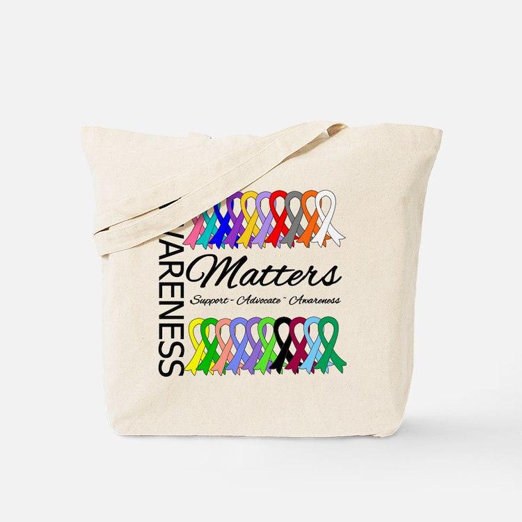 Awareness Matters Ribbons Tote Bag