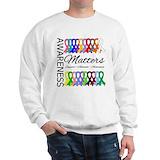 Awareness matters ribbons shirt Tops