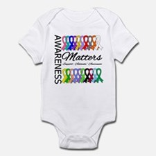 Awareness Matters Ribbons Infant Bodysuit