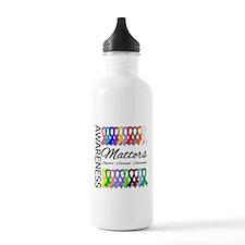 Awareness Matters Ribbons Water Bottle