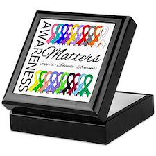 Awareness Matters Ribbons Keepsake Box