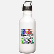 Banding Together For A Cure Water Bottle