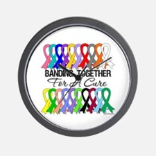 Banding Together For A Cure Wall Clock