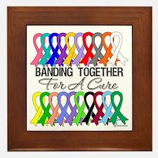 Banding Together For A Cure Framed Tile