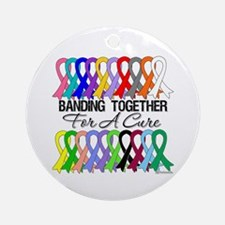 Banding Together For A Cure Ornament (Round)