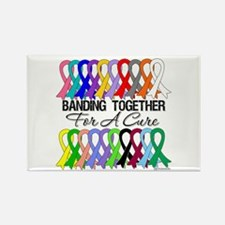 Banding Together For A Cure Rectangle Magnet