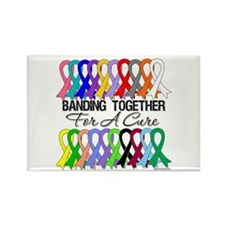 Banding Together For A Cure Rectangle Magnet (10 p