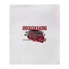 Stock Car Auto Racing Throw Blanket