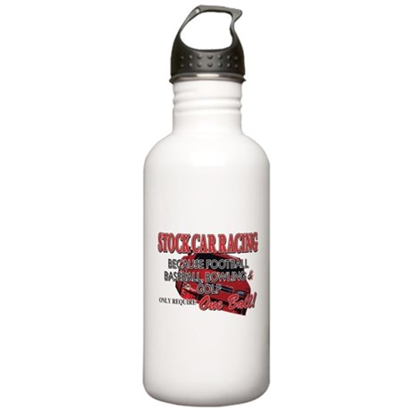 Stock Car Auto Racing Stainless Water Bottle 1.0L