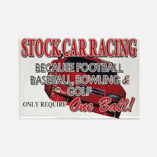 Stock Car Auto Racing Rectangle Magnet