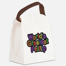 Worlds Greatest Phillip Canvas Lunch Bag