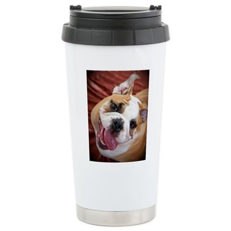 English Bulldog Puppy Stainless Steel Travel Mug