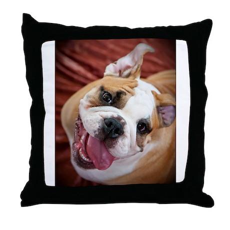English Bulldog Puppy Throw Pillow