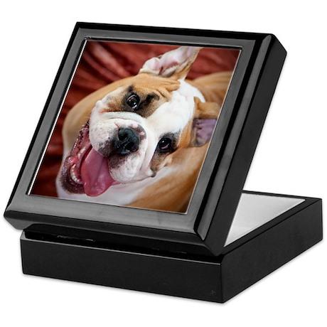 English Bulldog Puppy Keepsake Box