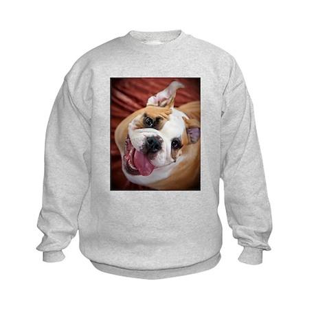 English Bulldog Puppy Kids Sweatshirt