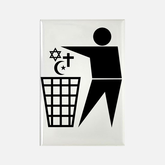 Trash Religion Rectangle Magnet (10 pack)