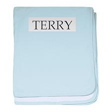 Terry baby blanket