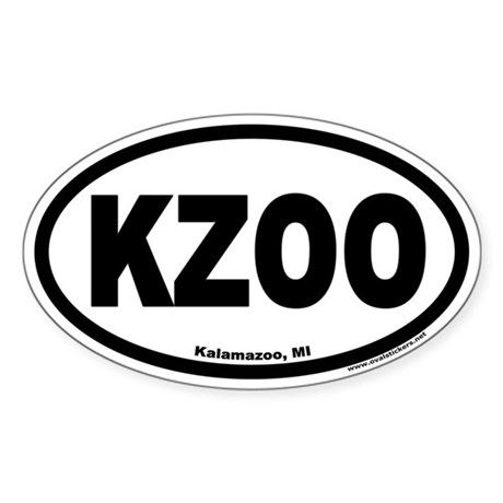 Kalamazoo Michigan KZOO Euro Oval Sticker
