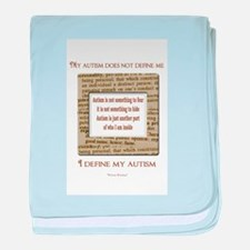 My Autism Does Not Define Me baby blanket