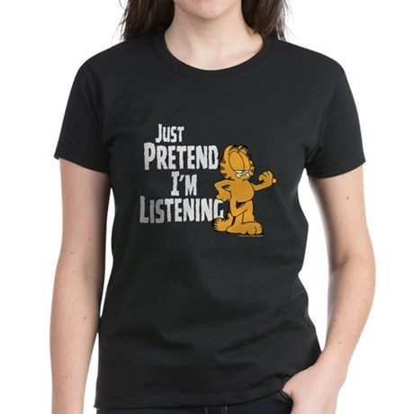 Just Pretend Women's Black T-Shirt