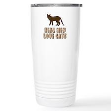 Real Men Love Cats Travel Mug