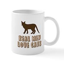 Real Men Love Cats Small Mug