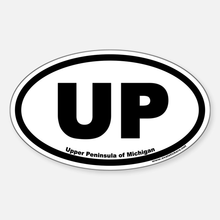 Upper Peninsula of Michigan UP Euro Oval Decal