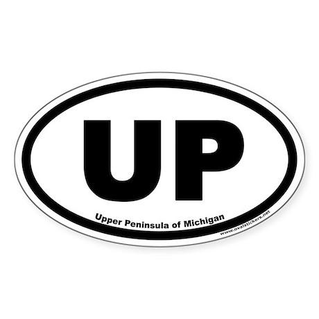 Upper Peninsula of Michigan UP Euro Oval Sticker