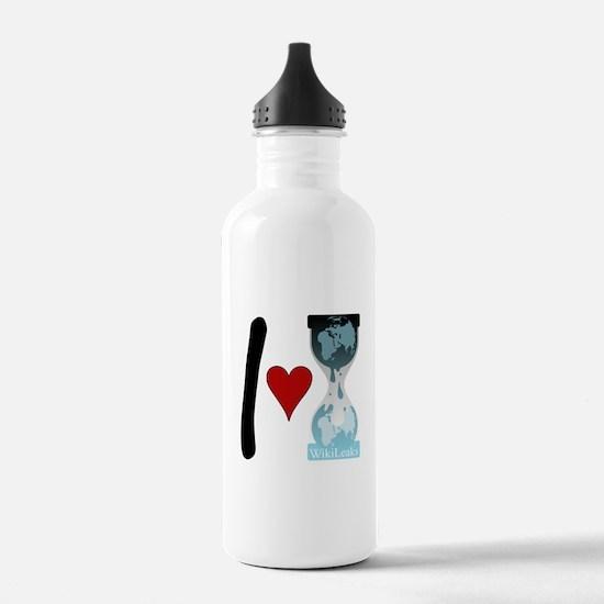 I heart WikiLeaks Water Bottle