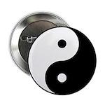 """Yin Yang 2.25"""" Button"""