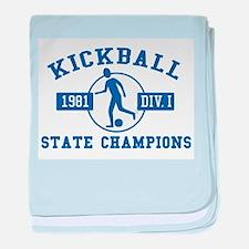 Kickball State Champions baby blanket