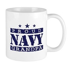 Proud Navy Grandpa Small Mug