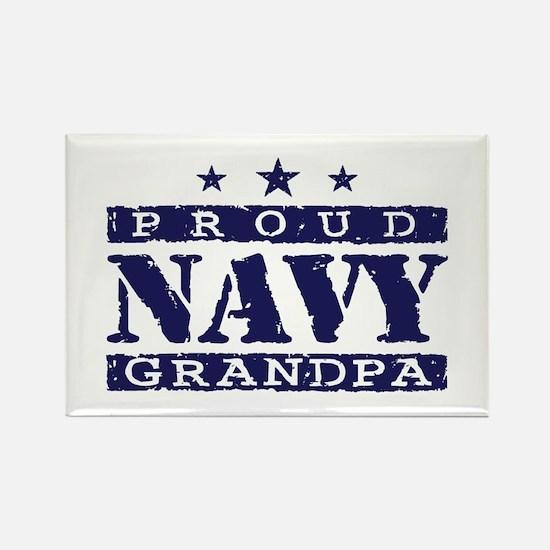 Proud Navy Grandpa Rectangle Magnet