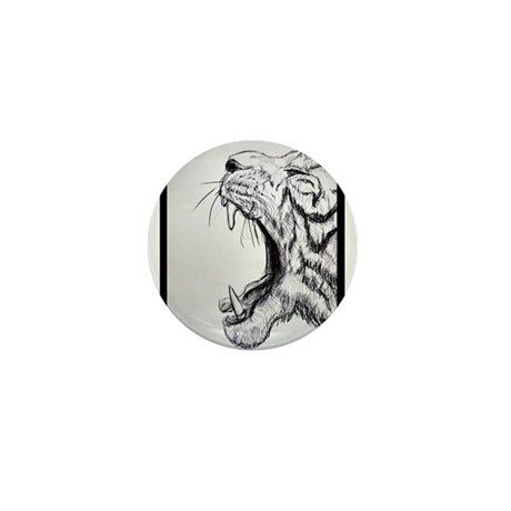 Fierce, Tiger, Mini Button