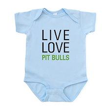 Live Love Pit Bulls Infant Bodysuit