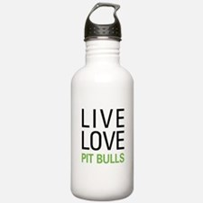 Live Love Pit Bulls Water Bottle