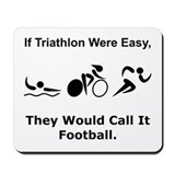 Triathlete Mouse Pads