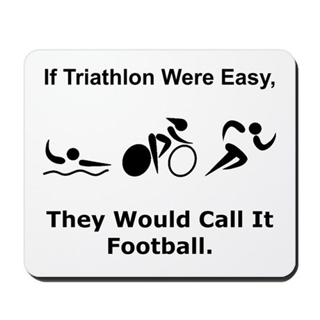Traithlon Football Mousepad