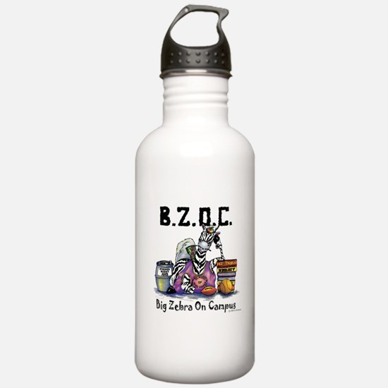 Big Zebra On Campus Water Bottle