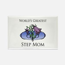 World's Greatest Step Mom (Floral) Rectangle Magne