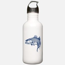 Graphic Striped Bass Water Bottle